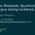 The Benjamin ApartHotel is open during lockdown